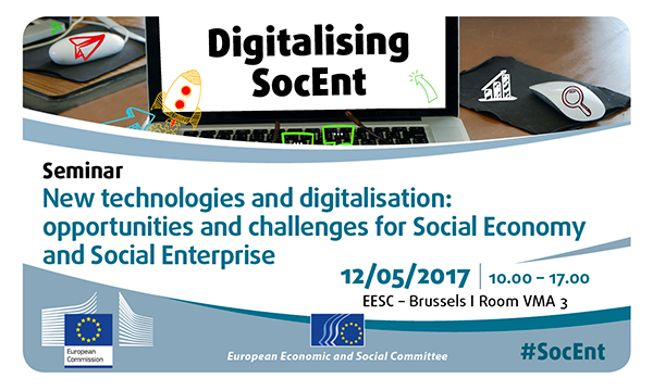 """C ZcUz0WsAAZAkJ European Parliament - 12 May - """"New technologies and digitalisation: opportunities and challenges for Social Economy and Social Enterprise"""""""