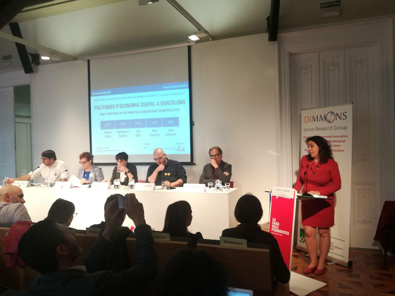 photo 2019 05 16 18 08 32 La UOC organitza el primer debat sobre economia de plataforma amb les principals candidatures a Barcelona