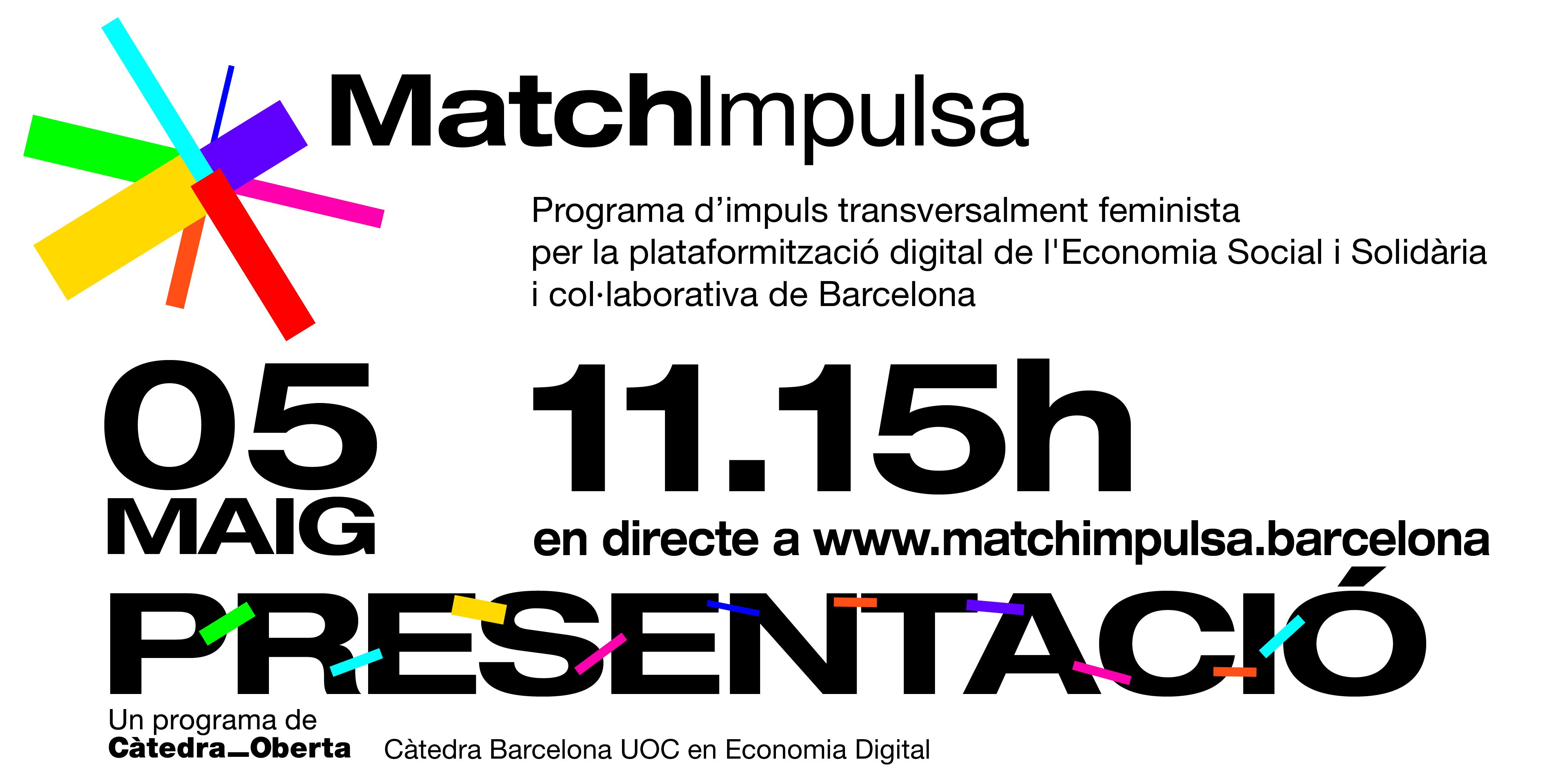 Presentació MatchImpulsa. 05 de maig. 11.15h