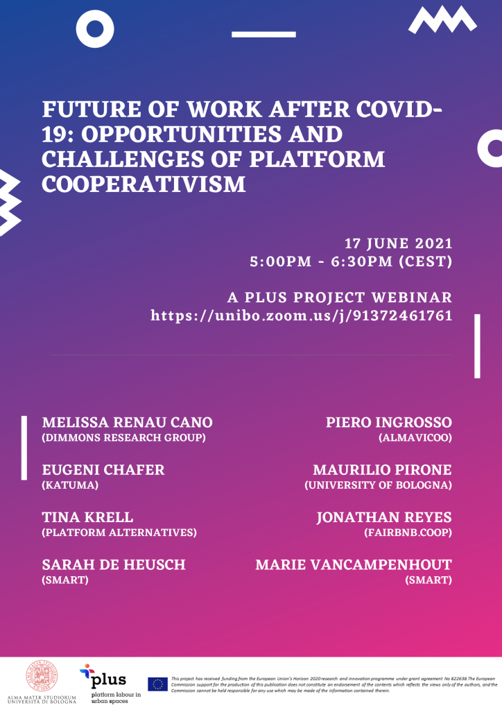 Platform Cooperativism Tests and Results 2 Future of work after COVID-19: Platform cooperativism, opportunities and challenges